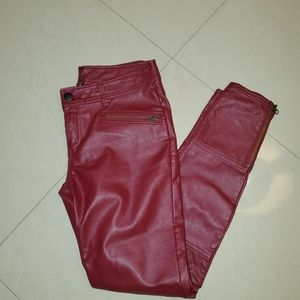 FREE PEOPLE FAUX LEATHER PANTS